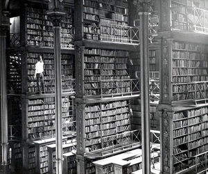 book, library, and black and white image