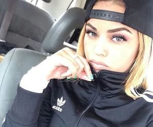 girl, adidas, and eyebrows image