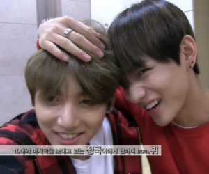 v, bts, and vkook image