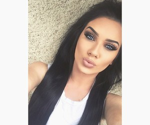 beauty, makeup, and black image