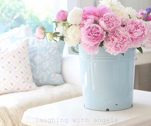 decor, flowers, and pastel image