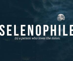 moon, selenophile, and night image