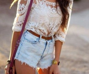 denim shorts, fashion, and hipsters image