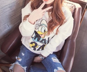fashion, duck, and jeans image