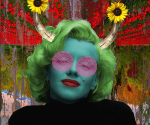 art, Collage, and marylin monroe image