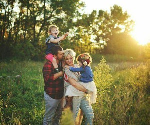 child, family, and happy image