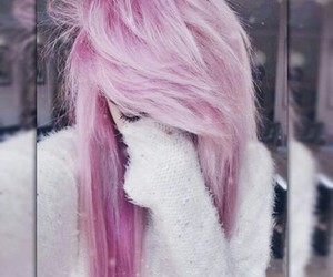 emo, hair, and pink image