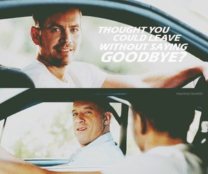 paul walker, Vin Diesel, and dominic toretto image