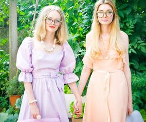 dress, girls, and girly image