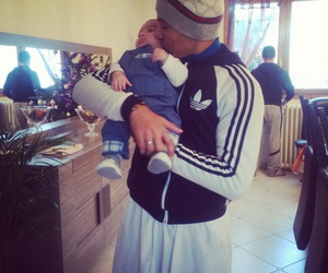 adidas, baby, and dad image