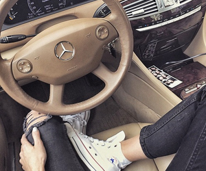 car, converse, and mercedes image