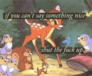bambi, disney, and quote image