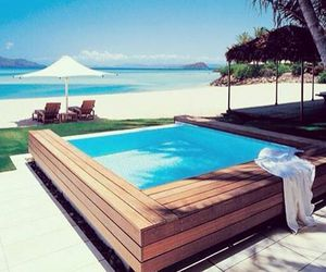 beach, luxury, and pool image