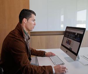 computer, cristiano ronaldo, and real madrid image
