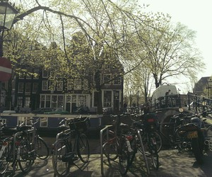 amsterdam, beautiful, and bikes image