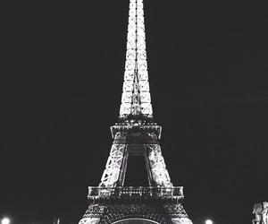 france, paris, and black image