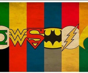 colors, superhero, and love image
