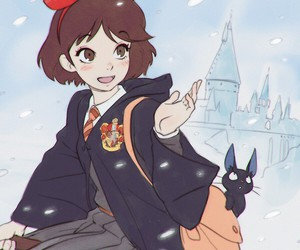 harry potter, kiki, and cat image