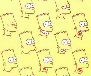 wallpaper, bart, and yellow image