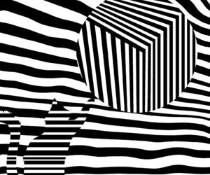 black and white, op art, and optical illusion image