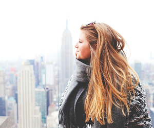 empire state building, girl, and new york image