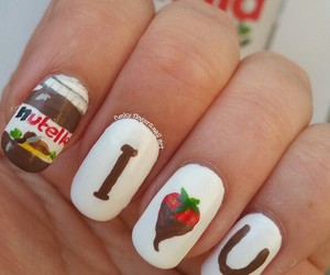 chocolate, nails, and nutella image