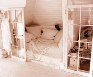 bed, home, and sleep image