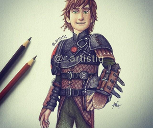 how to train your dragon, art, and hiccup image