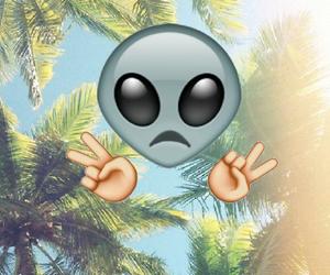 alien, emoji, and peace image