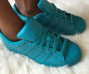 adidas, blue, and fashion image