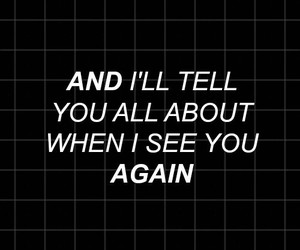 Lyrics and see you again image