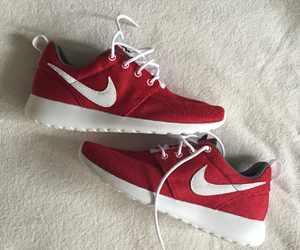 nike, white, and red image