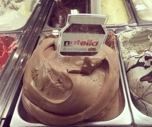 nutella, ice cream, and food image