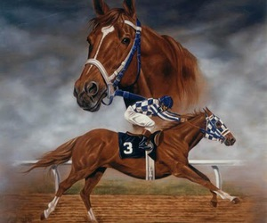 champion, gallop, and Secretariat image