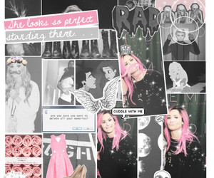 cyber, demi lovato, and pink image