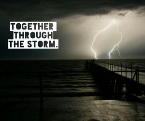couple, storm, and together image