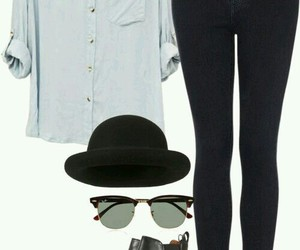 college, outfit, and style image