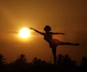 ballerina, dancer, and sky image