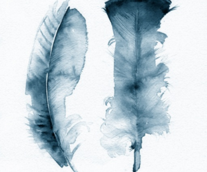 feather, art, and watercolor image
