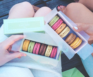 candy, macaroons, and cannes image