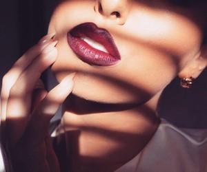 lips, fashion, and makeup image