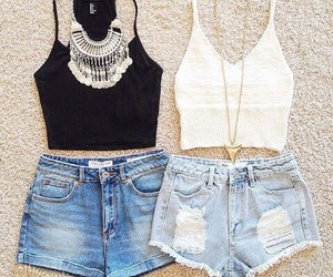 black, shorts, and clothes image