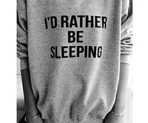 sweater and sleeping image