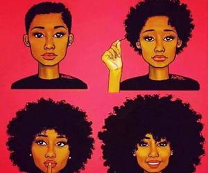 hair, Afro, and black image