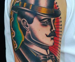 gentleman, oldschool, and tattoo image