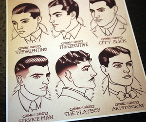 hairstyle and gentleman image