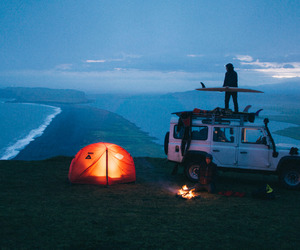travel, surf, and beach image
