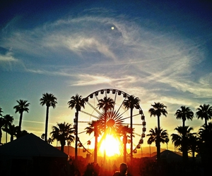 sunset, coachella, and california image