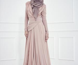 hijab, beautiful, and dress image
