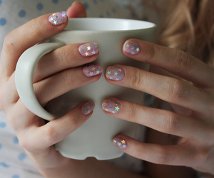 art, holographic, and manicure image
